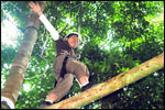 High Ropes Course - High Log Traverse