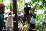 Low Ropes Course - Tension Traverse