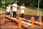 Obstacle Course - Swinging Board