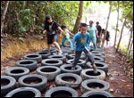 Obstacle Course Tyre Run